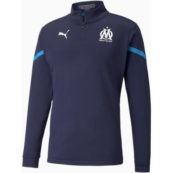 Abbigliamento Uomo Felpe Puma Sweat Olympique de Marseille Prematch bleu marine/bleu azur