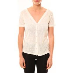 Abbigliamento Donna T-shirt maniche corte Meisïe Top 50-608SP14 Écru Beige