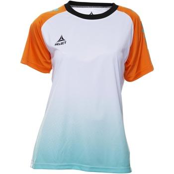 Abbigliamento Donna T-shirt maniche corte Select T-shirt femme  Player Femina orange/blanc/vert