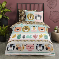 Casa Unisex bambino Completo letto Good Morning Copripiumino 140 x 220 cm Multicolore