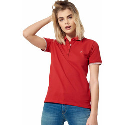 Abbigliamento Donna Polo maniche corte Kaporal Polax Rosso