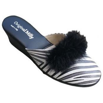 Scarpe Donna Pantofole Original Milly CIABATTA DA CAMERA MILLY - 300 ZEBRATO NERO Multicolore
