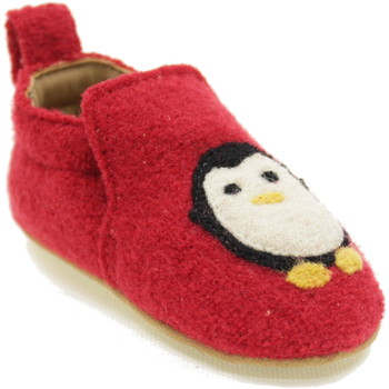 Scarpe Bambino Pantofole Haflinger PINGUIN ROSSO