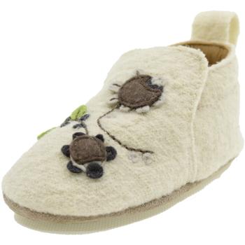 Scarpe Bambina Pantofole Haflinger FLOWER BIANCO