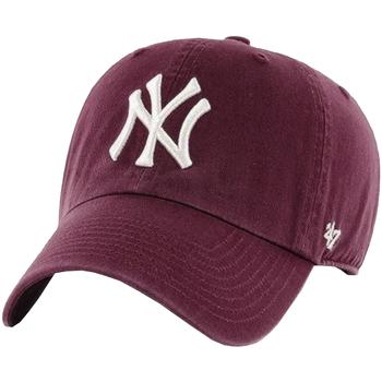 Accessori Uomo Cappellini 47 Brand New York Yankees MLB Clean Up Cap Bordeaux