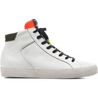 Scarpe Uomo Sneakers alte Crime London HIGH TOP DISTRESSED White