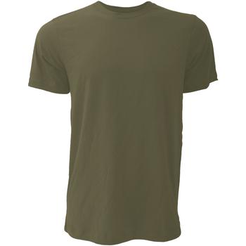 Abbigliamento Uomo T-shirt maniche corte Bella + Canvas CA3001 Verde Miltare