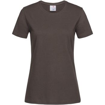 Abbigliamento Donna T-shirt maniche corte Stedman  Cioccolato scuro