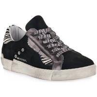 Scarpe Donna Sneakers basse At Go GO 4102 VELOUR NERO Nero