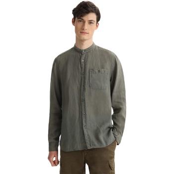Abbigliamento Uomo Camicie maniche lunghe Woolrich ATRMPN-29552 Verde
