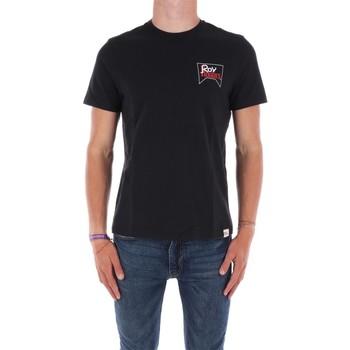 Abbigliamento Uomo T-shirt maniche corte Roy Rogers ATRMPN-29556 Nero