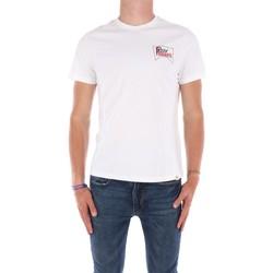 Abbigliamento Uomo T-shirt maniche corte Roy Rogers ATRMPN-29557 Bianco
