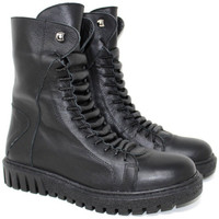 Scarpe Donna Sneakers alte Tiurai ANFIBIO  - SCANDAL NERO Nero
