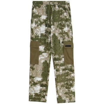 Abbigliamento Uomo Pantalone Cargo Sixth June Pantalon  Cargo Camouflage vert camouflage