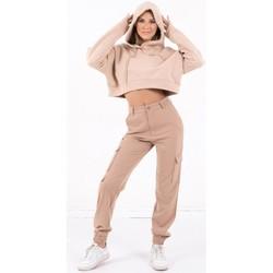 Abbigliamento Donna Felpe Sixth June Sweatshirt Crop Top femme  Acid Printed beige