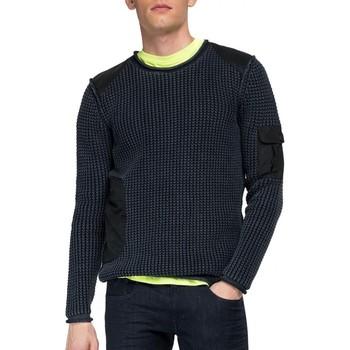 Abbigliamento Uomo Maglioni Replay Pullover Girocollo Con Tasche Aged 5 Years Nero Nero