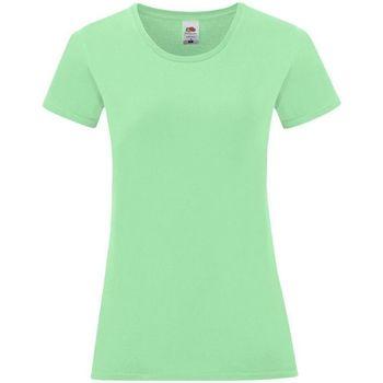 Abbigliamento Donna T-shirt & Polo Fruit Of The Loom 61432 Verde