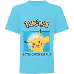 Abbigliamento Bambino T-shirt maniche corte Pokemon  Blu