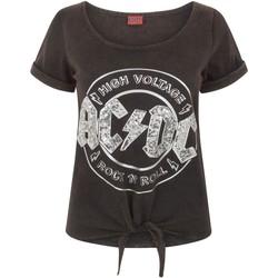 Abbigliamento Donna T-shirt maniche corte Ac/dc  Nero