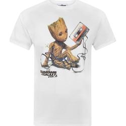 Abbigliamento Uomo T-shirt maniche corte Guardians Of The Galaxy  Bianco