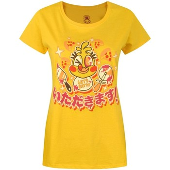 Abbigliamento Donna T-shirt maniche corte Five Nights At Freddys  Giallo