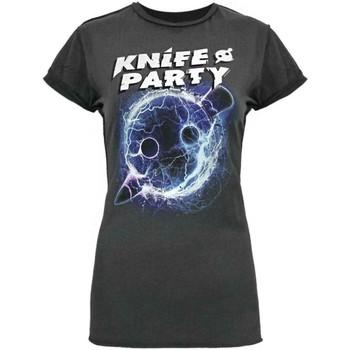 Abbigliamento Donna T-shirt maniche corte Amplified  Carbone