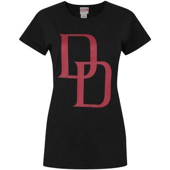 Abbigliamento Donna T-shirt maniche corte Daredevil  Nero/Rosso