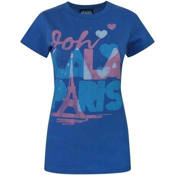 Abbigliamento Donna T-shirt maniche corte Junk Food  Blu reale