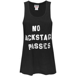 Abbigliamento Donna Top / T-shirt senza maniche Junk Food  Nero