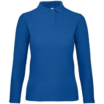 Abbigliamento Donna Polo maniche lunghe B And C PWI13 Blu regale
