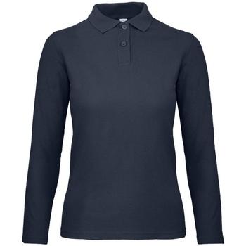 Abbigliamento Donna Polo maniche lunghe B And C PWI13 Blu oltremare
