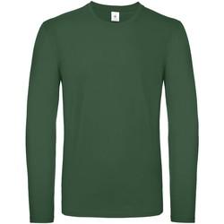 Abbigliamento Uomo T-shirts a maniche lunghe B And C TU05T Verde bottiglia