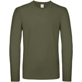 Abbigliamento Uomo T-shirts a maniche lunghe B And C TU05T Cachi
