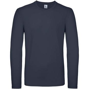 Abbigliamento Uomo T-shirts a maniche lunghe B And C TU05T Blu Navy