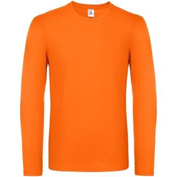 Abbigliamento Uomo T-shirts a maniche lunghe B And C TU05T Arancio