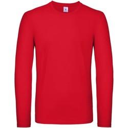 Abbigliamento Uomo T-shirts a maniche lunghe B And C TU05T Rosso