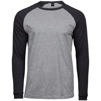 Abbigliamento Uomo T-shirts a maniche lunghe Tee Jays T5072 Grigio/Nero