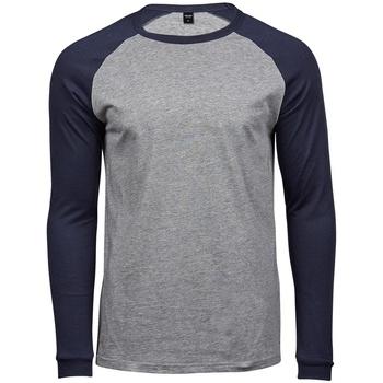 Abbigliamento Uomo T-shirts a maniche lunghe Tee Jays T5072 Grigio/Blu