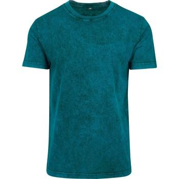 Abbigliamento Uomo T-shirt maniche corte Build Your Brand BY070 Azzurro/Nero