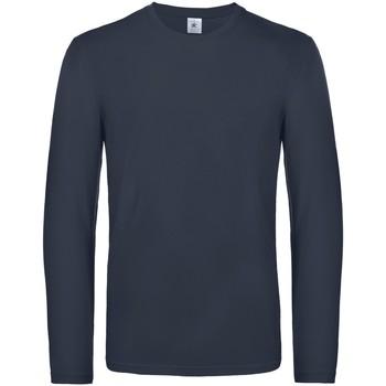 Abbigliamento Uomo T-shirts a maniche lunghe B And C TU07T Blu scuro