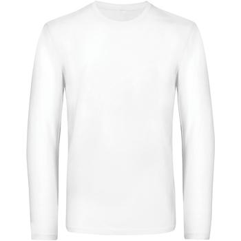 Abbigliamento Uomo T-shirts a maniche lunghe B And C TU07T Bianco
