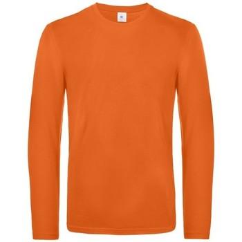 Abbigliamento Uomo T-shirts a maniche lunghe B And C TU07T Arancione