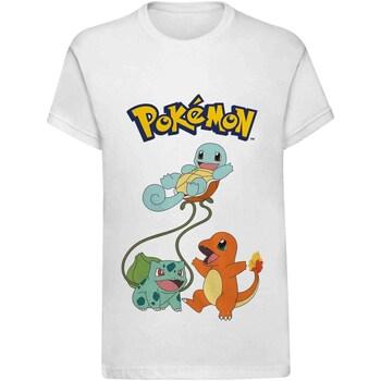 Abbigliamento Unisex bambino T-shirt maniche corte Pokemon  Bianco