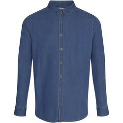 Abbigliamento Uomo Camicie maniche lunghe Awdis SD040 Blu
