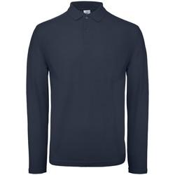 Abbigliamento Uomo Polo maniche lunghe B And C BA290 Blu navy