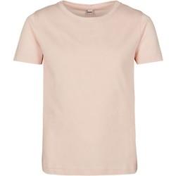 Abbigliamento Bambina T-shirt maniche corte Build Your Brand BY115 Rosa
