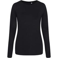 Abbigliamento Donna T-shirts a maniche lunghe Awdis JT02F Nero
