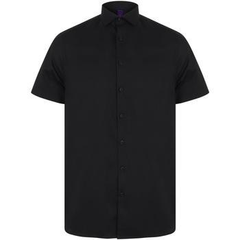 Abbigliamento Uomo Camicie maniche corte Henbury HB537 Nero