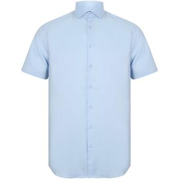 Abbigliamento Uomo Camicie maniche corte Henbury HB537 Azzurro