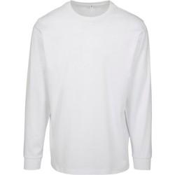 Abbigliamento Uomo Felpe Build Your Brand BY091 Bianco